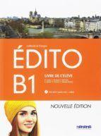 EDITO B1 1ºBACHILLERATO LIVRE ELEVE +DVD ROM