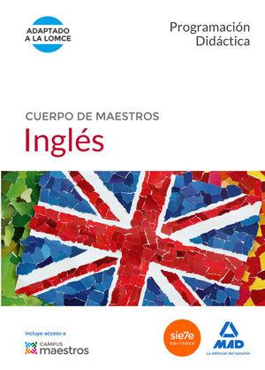 CUERPO DE MAESTROS INGLÉS. PROGRAMACIÓN DIDÁCTICA