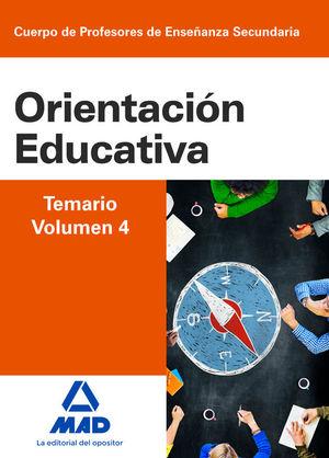 TEMARIO IV ORIENTACION EDUCATIVA CUERPO PROFESORES ENSEÑANZA SECUNDARIA
