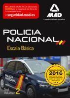 POLICÍA NACIONAL ESCALA BÁSICA. TEST VOLUMEN 2
