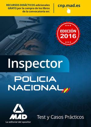 INSPECTOR DE POLICÍA NACIONAL. TEST Y CASOS PRÁCTICOS
