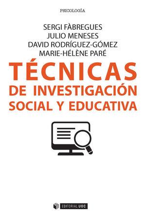 TÉCNICAS DE INVESTIGACIÓN SOCIAL Y EDUCATIVA