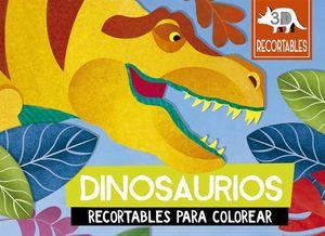 DINOSAURIOS. RECORTABLES 3D PARA COLOREAR