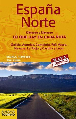 MAPA DE CARRETERAS ESPAÑA NORTE