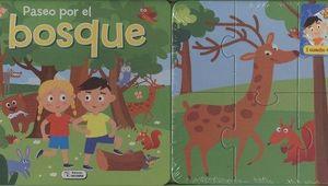 LIBRO CARTÓN CON PUZLES - PASEO POR EL BOSQUE