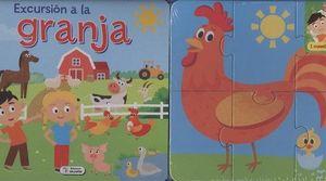 LIBRO CARTÓN CON PUZLES - EXCURSIÓN A LA GRANJA