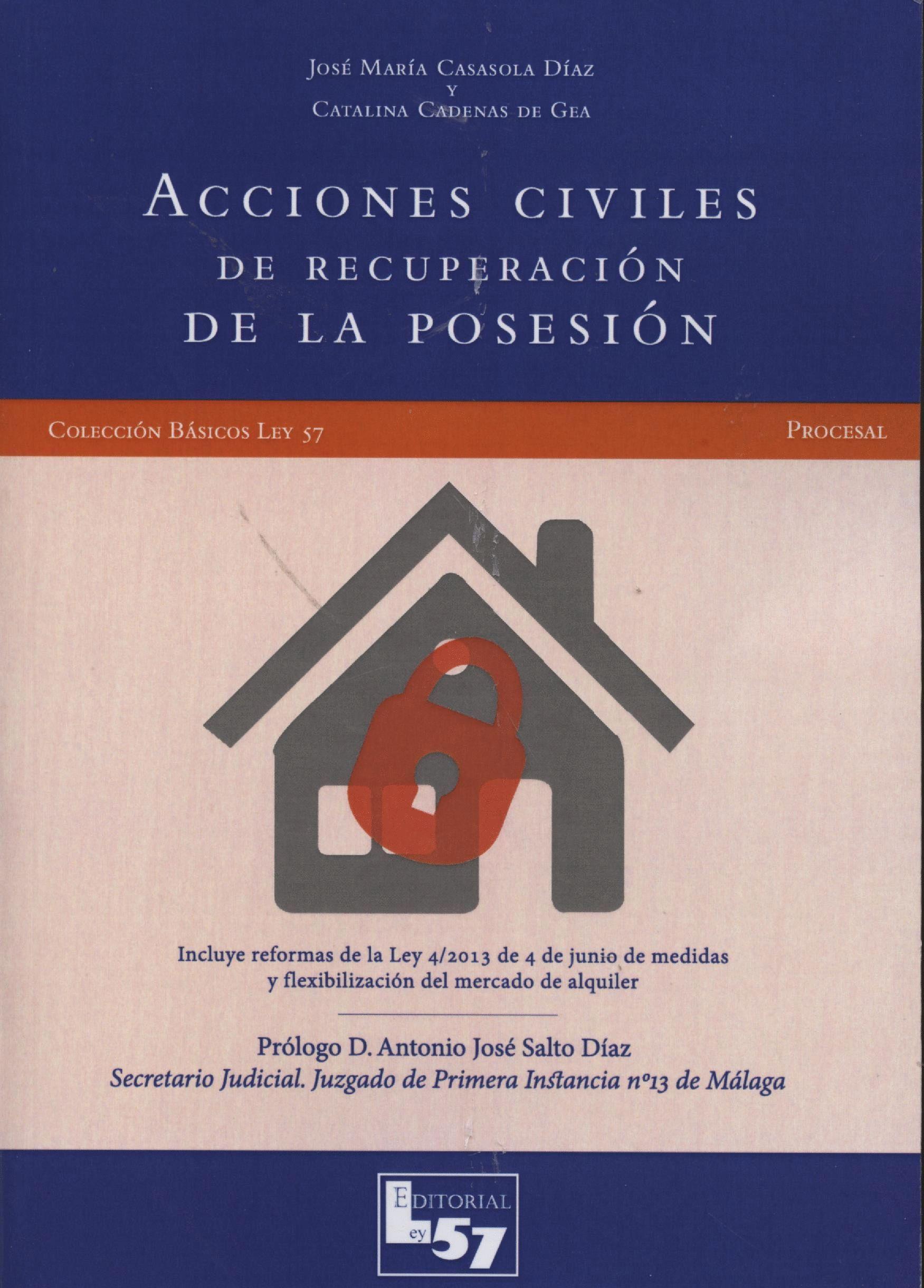 ACCIONES CIVILES DE RECUPERACIÓN DE LA POSESIÓN