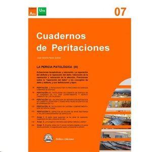 CUADERNOS DE PERITACIONES - VOLUMEN 7