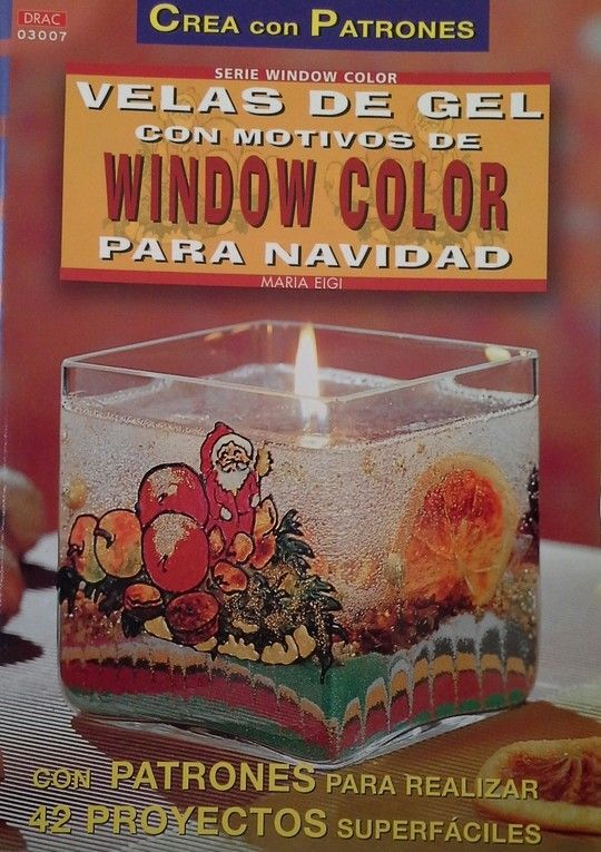 SERIE WINDOW COLOR Nº 7. VELAS DE GEL WINDOW COLOR PARA NAVIDAD