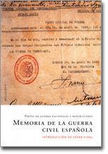 MEMORIA DE LA GUERRA CIVIL ESPAÑOLA