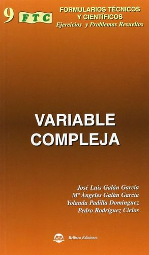FORMULARIO TÉCNICO Y CIENTÍFICO DE VARIABLE COMPLEJA