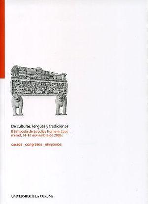 DE CULTURAS, LENGUAS Y TRADICIONES - II SIMPOSIO DE ESTUDIOS HUMANÍSTICOS