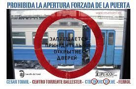 PROHIBIDA APERTURA FORZADA PUERTA/NO DOOR FORCED OPENING