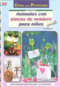 ANIMALES CON PINZAS DE MADERA PARA NIÑOS