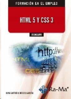 HTML 5 Y CSS 3 IFCM036PO