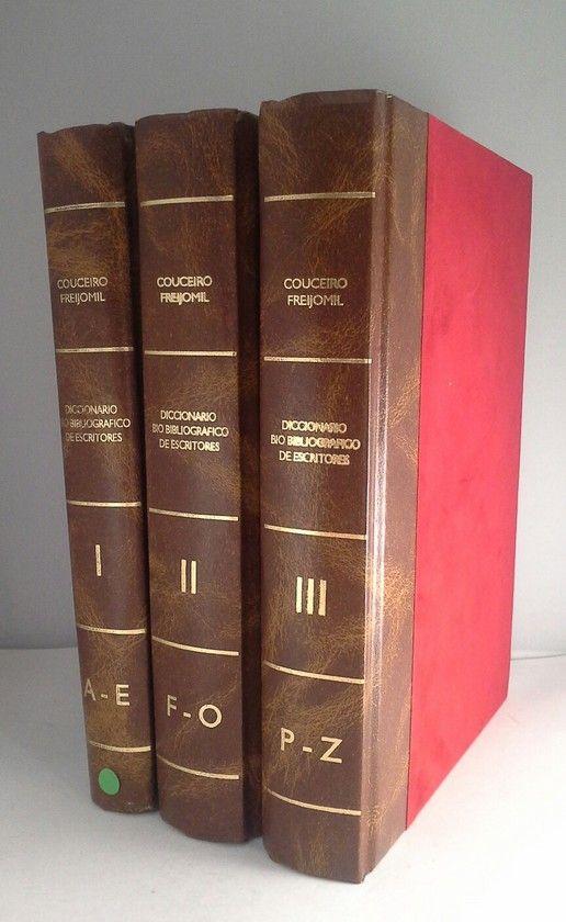 DICCIONARIO BIO BIBLIOGRAFICO DE ESCRITORES  - 3 TOMOS