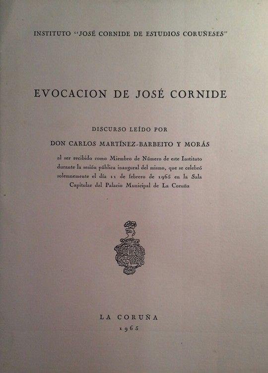 EVOCACION DE JOSE CORNIDE