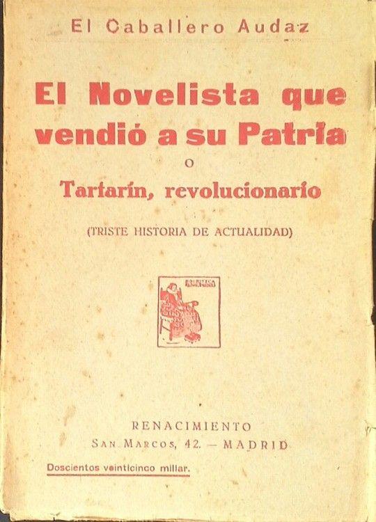 EL NOVELISTA QUE VENDIÓ A SU PATRIA O TARTARÍN REVOLUCIONARIO