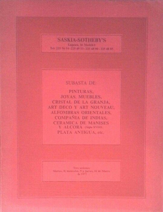 SASKIA-SOTHEBY'S. CATÁLOGO DE SUBASTA DE 8 A 10 DE MARZO DE 1977