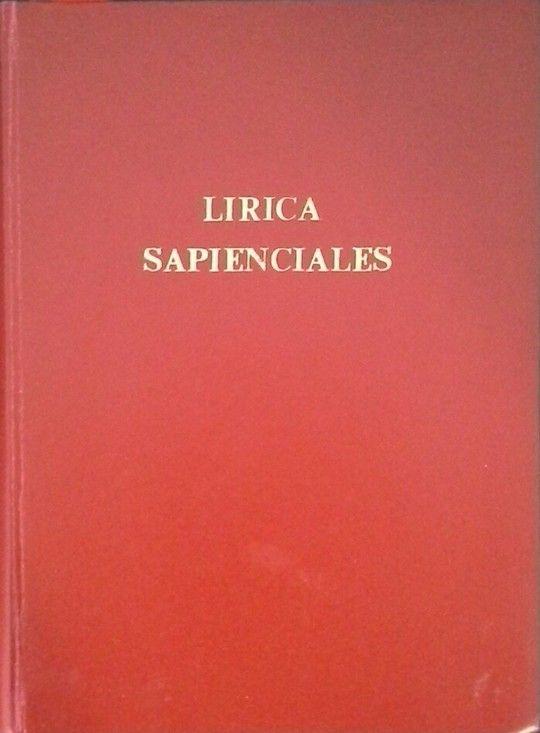 LÍRICA - SAPIENCIALES