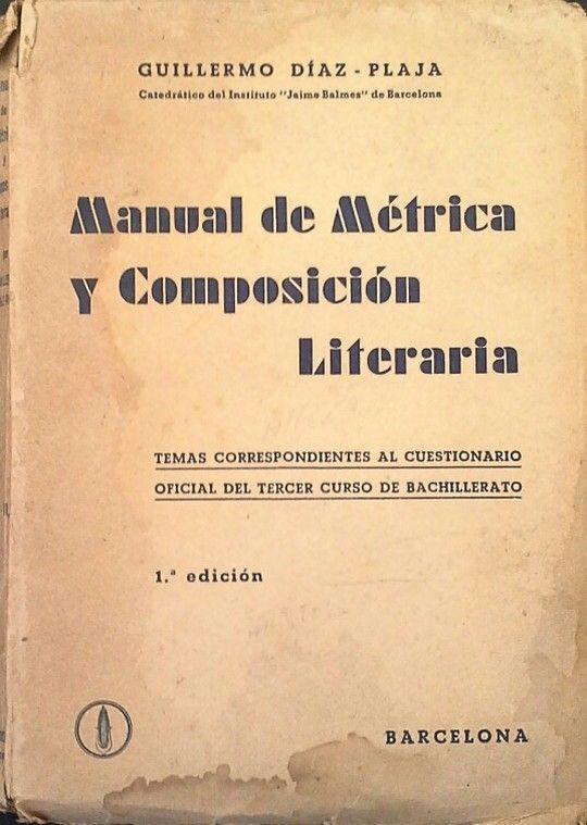 MANUAL DE MÉTRICA Y COMPOSICIÓN LITERARIA
