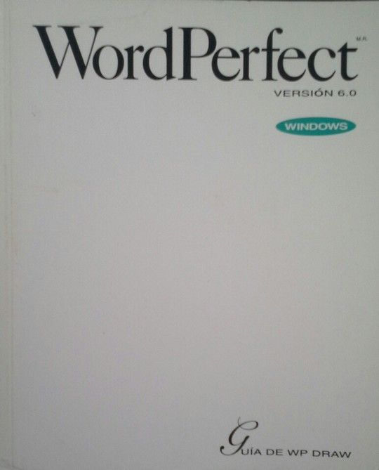 WORDPERFECT VERSIÓN 6.0 WINDOWS