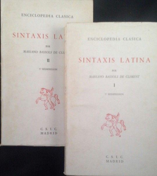 SINTAXIS LATINA - VOLÚMENES I Y II