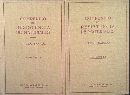 COMPENDIO DE RESISTENCIA DE MATERIALES - DOS TOMOS