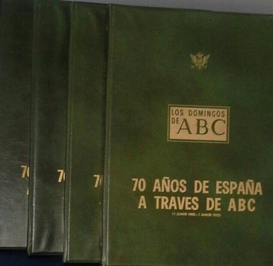70 AÑOS DE ESPAÑA A TRAVÉS DE ABC (4 CARPETAS)