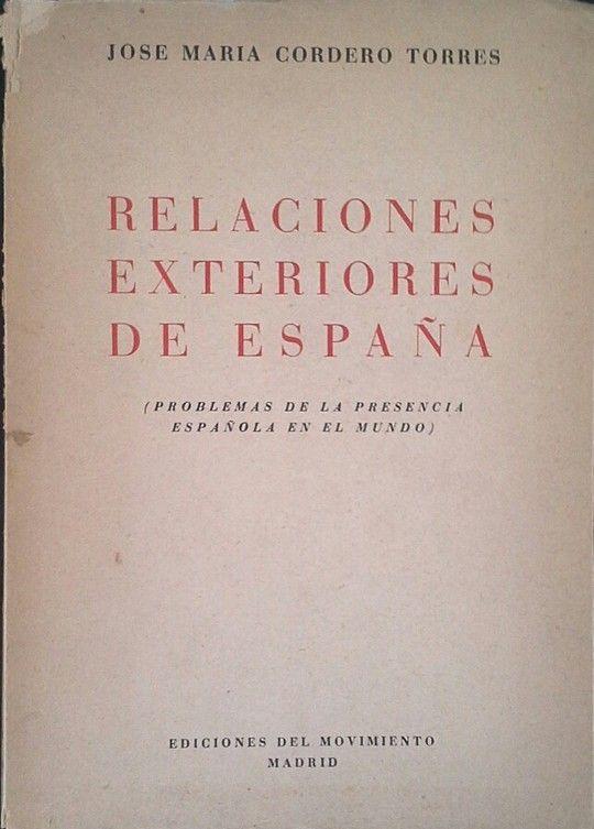 RELACIONES EXTERIORES DE ESPAÑA