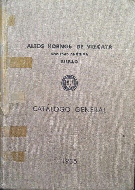CATÁLOGO GENERAL DE ALTOS HORNOS DE VIZCAYA - 1935