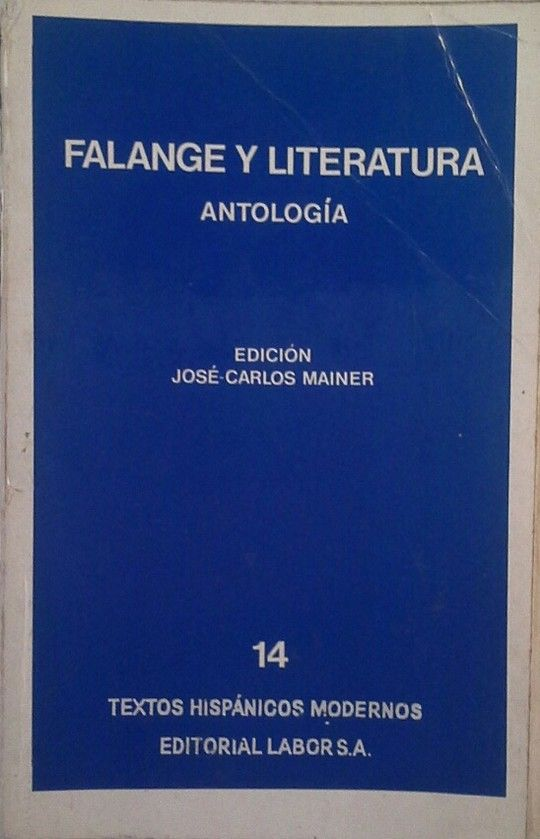FALANGE Y LITERATURA - ANTOLOGÍA