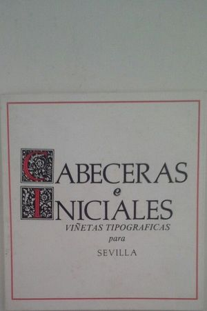 CABECERAS E INICIALES - VIÑETAS TIPOGRÁFICAS