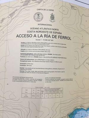 CARTA NAUTICA IHM 4122 CARTA NAUTICA ACCESO A LA RIA DE FERROL