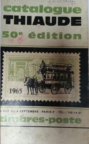 CATALOGUE THIAUDE 50 EDITION