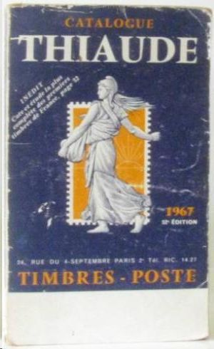 CATALOGUE THIAUDE  1967