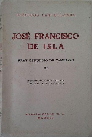 FRAY GERUNDIO DE CAMPAZAS - VOL III