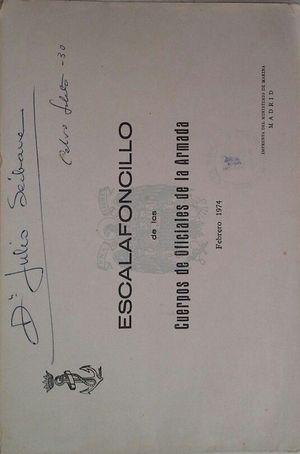 ESCALAFONCILLO DE LOS CUERPOS DE OFICIALES DE LA ARMADA - FEBRERO DE 1974