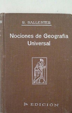 NOCIONES DE GEOGRAFÍA UNIVERSAL