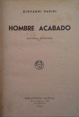 HOMBRE ACABADO