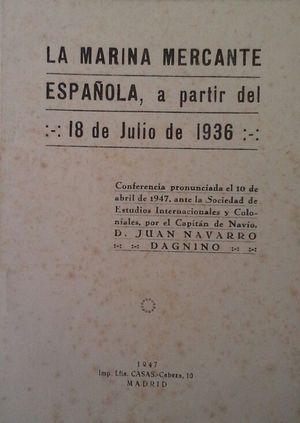 LA MARINA MERCANTE ESPAÑOLA A PARTIR DEL 18 DE JULIO DE 1936