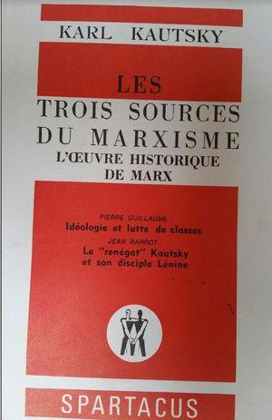 LES TROIS SOURCES DU MARXISME