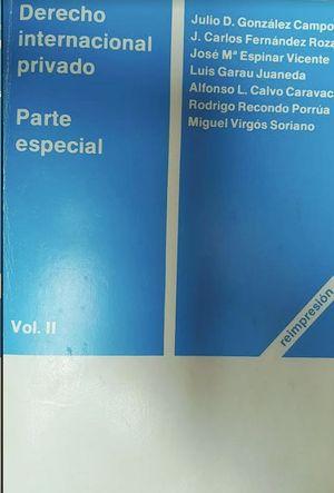 DERECHO INTERNACIONAL PRIVADO- VOL: II