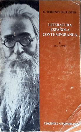 LITERATURA ESPAÑOLA CONTEMPORANEA II