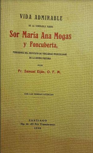 VIDA ADMIRABLE MADRE SOR MARIA ANA MOGAS Y FONCUBERTA