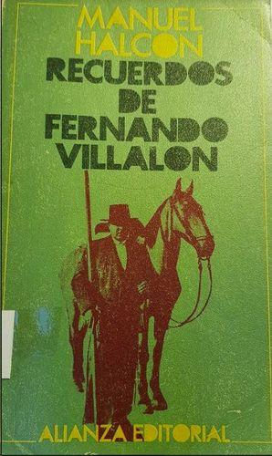 RECUERDOS DE FERNANDO VILLALON
