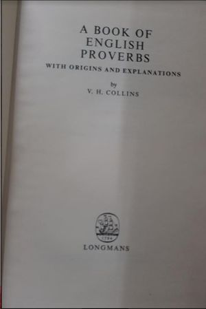 A BOOK ENGLISH PROVERBS