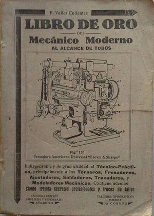 LIBRO DE ORO DEL MECANICO MODERNO AL ALCANCE DE TODOS