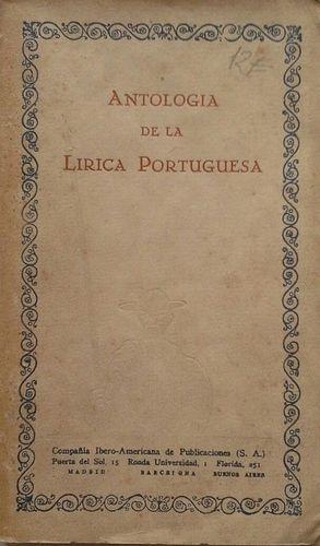 ANTOLOGÍA DE LA LÍRICA PORTUGUESA