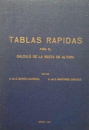 TABLAS RÁPIDAS PARA EL CÁLCULO DE LA RECTA DE ALTURA